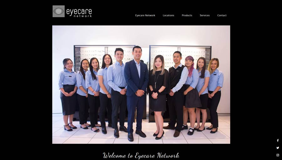 health practice website design home page