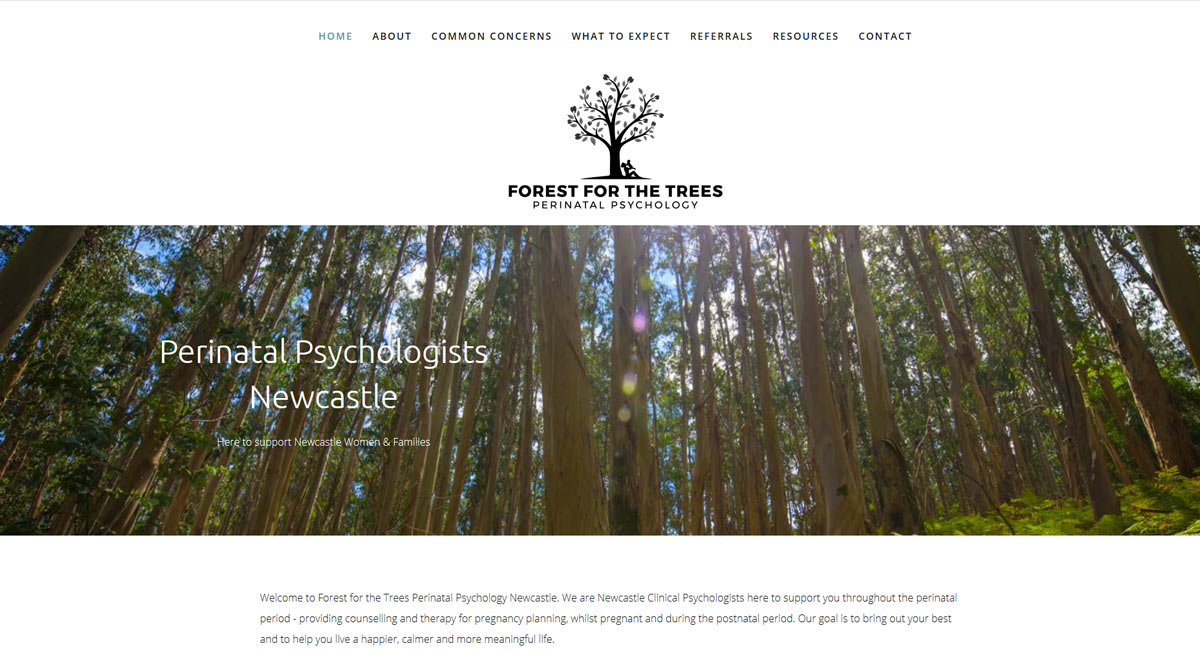 example of a website design for psychologist