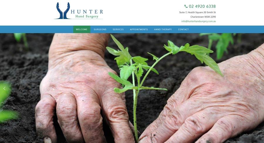 hand surgeon website design