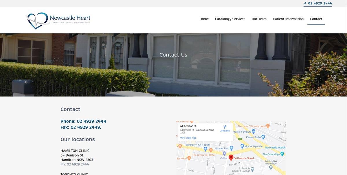 cardiologist website design Newcastle